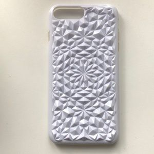 White spiked iPhone 8 Plus Phone Case